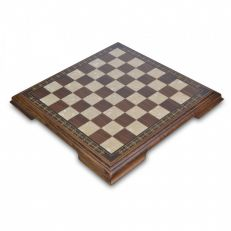 brown and white chess board