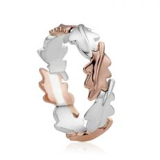 Clogau silver, rose gold & white topaz Royal Crown ring
