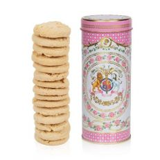 Queen's 95th birthday 2021 rose & almond biscuits in official commemorative tin