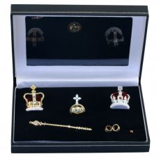 Crowns and Regalia Coronation 7 piece crown miniature set