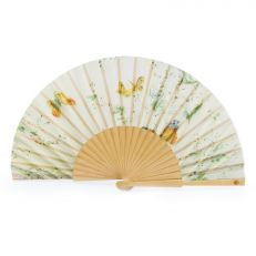 Luxury cream butterfly folding hand fan