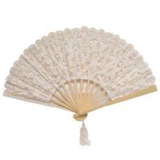 Cream Lace Battenburg Parasol