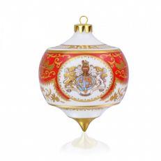 Royal Palace Crest fine bone china bauble