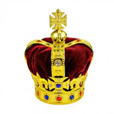 Multi-coloured crown decoration