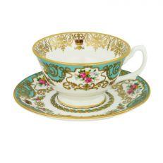 Royal Palace Collection fine English bone china teacup and saucer