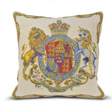 Flemish Tapestries Royal coat of arms tapestry cushion