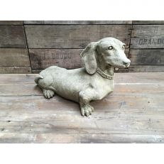 Victorian dachshund garden ornament