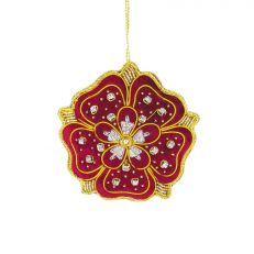 Tinker Tailor Coronation Robes Tudor Rose tree decoration
