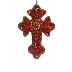 Handmade vintage red cross decoration