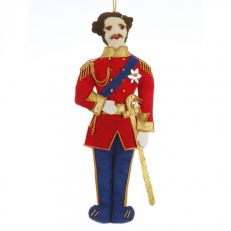 St Nicolas Prince Albert characeter tree decoration in military dress