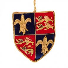 St Nicolas Royal England shield tree decoration