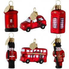 Brink London icons glass tree decorations