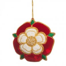 St Nicolas Tudor Rose tree decoration