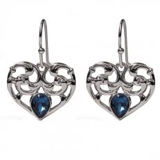 Princess Diana heart drop earrings