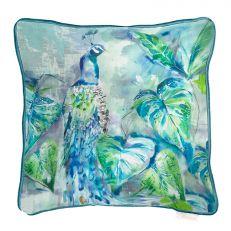 Luxury ebba peacock square cushion
