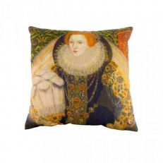 Queen Elizabeth I portrait cushion 43cm x 43cm
