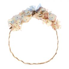 Blue floral hydrangea rustic headband