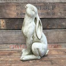 Gazing hare stone garden ornament
