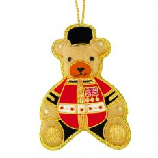 Royal Guardsman embroidered collectable teddy bear tree decoration