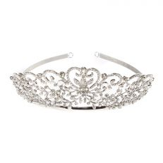 Heart scroll tiara
