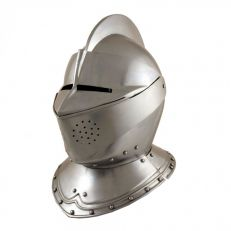 Medieval armour - close helm side view