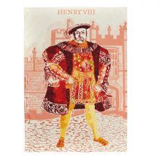 Illustrated Henry VIII at Hampton Court Palace Tea Towel Opened