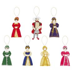 St Nicolas Henry VIII and wives tree decorations set