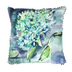 Luxury hydrangea floral square cushion