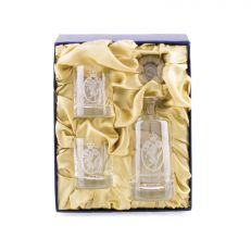 Kensington Palace crystal glass decanter Set with two tot glasss in luxury gift box