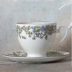 Atty & Smart English Kingfisher vintage style teacup & saucer