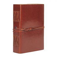 Medium leather bound stitched notebook