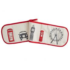 London skyline double cotton oven glove