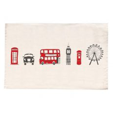 London skyline cotton tea towel