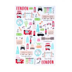 London adventures tea towel