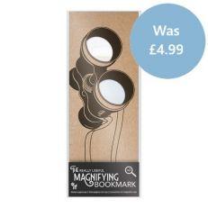 Magnifying binoculars bookmark