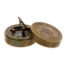Antique style brass Mary Rose round sundial compass
