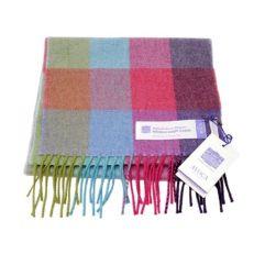 Hillsborough Castle Check Merino Wool Scarf