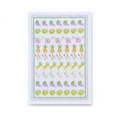 Exclusive Milly Green vegetable tea towel