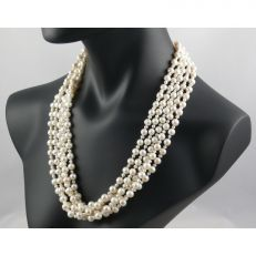 Real pearl company five strand pearl jewellery