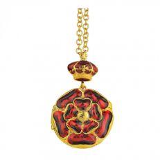 Tudor Rose enamel locket