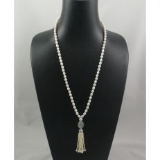 art deco style pearl tassel necklace