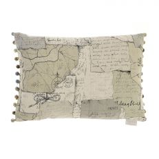 Voyage Maison luxury vintage explorer map cushion