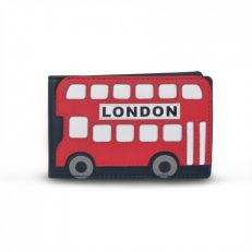 London Red Bus leather oyster card / travel card holder