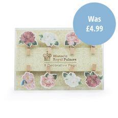 Royal Palace Rose mini pegs (set of 8)