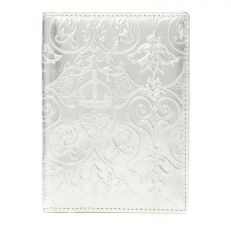 Royal Victoria silver metallic leather passport holder