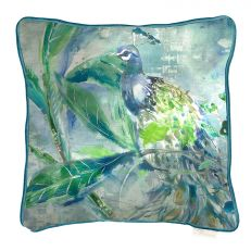 Luxury pavo peacock square cushion