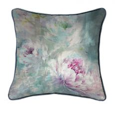 Luxury peony floral square cushion