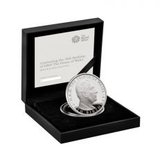 Royal Mint HRH Prince of Wales 70th birthday 2018 UK £5 silver proof commemorative coin in box