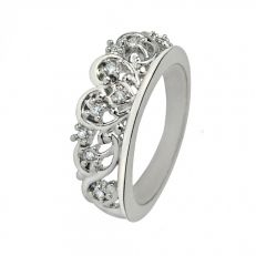 Diana Spencer tiara Swarovski crystal ring