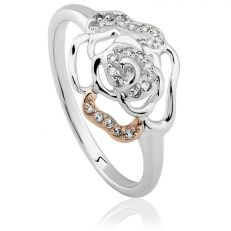 Royal Roses Silver Rose Gold Ring